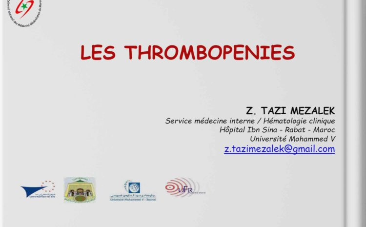 LES THROMBOPENIES